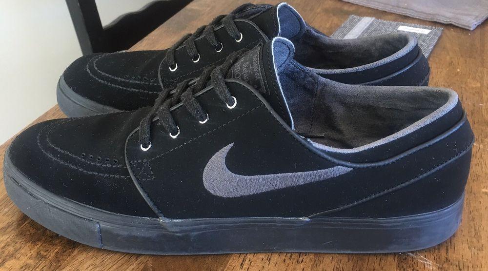 online store f83ac 970fa Nike Mens Skateboarding Shoe Stefan Janoski 633014 Size 10 Black Leather    eBay