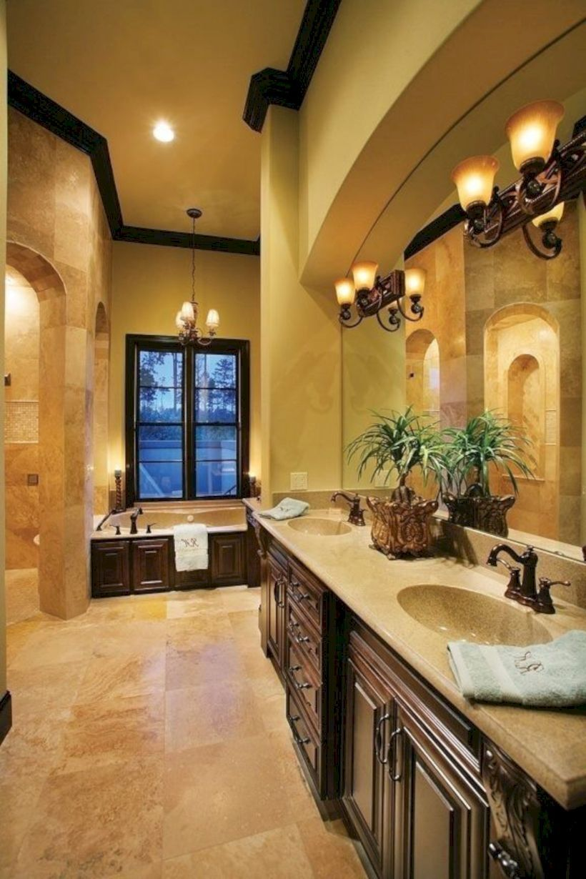 45 Luxurious Tuscan Bathroom Decor Ideas | Tuscan bathroom ...