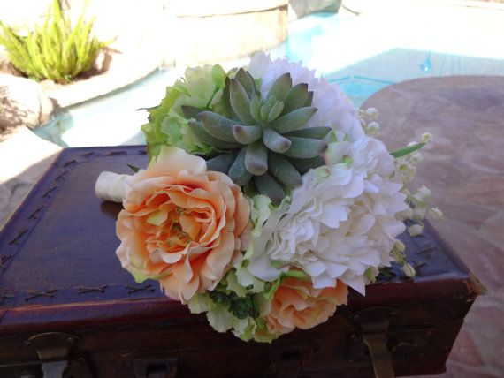 Bridal Bouquet In Cream Lime And Creamready By