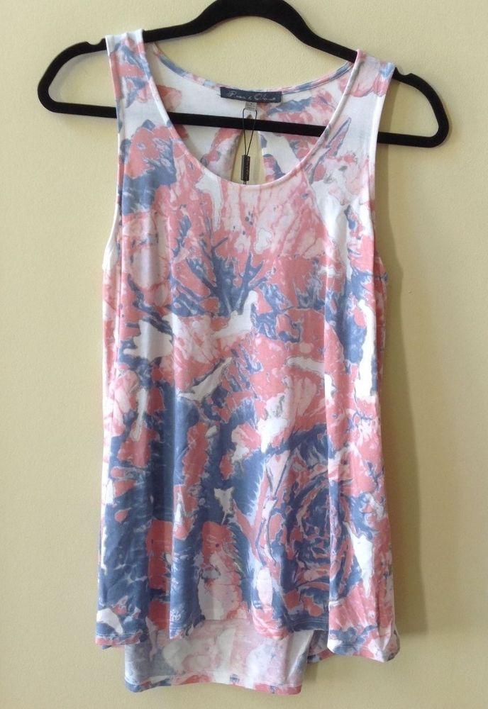 2ea828c518088 Nwt cynthia rowley women s tie-dye 100% silk sleeveless razor back tank top  sz s