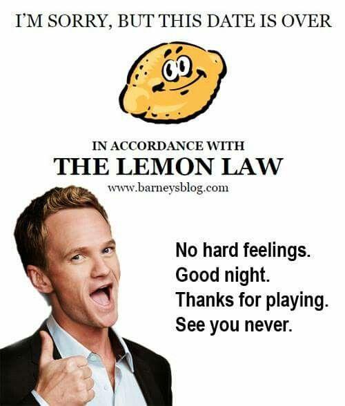 Lemon law for dating