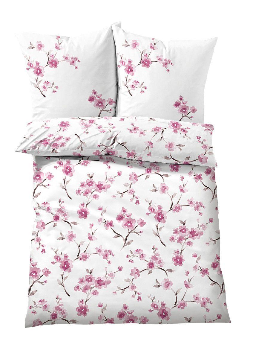Bettwasche Mit Kirschbluten Design Biber Bettwasche Baumwollbettwasche Bett