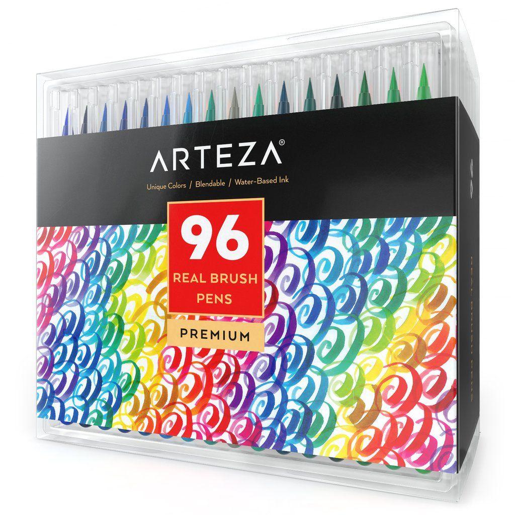 Arteza Real Brush Pens 96 Colors Watercolor Markers Set Of