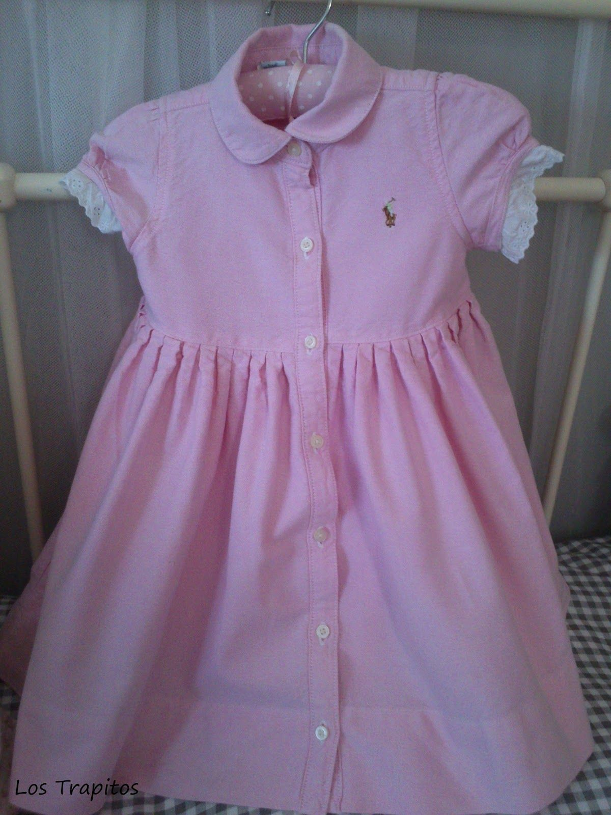 Precioso vestido camisero de Polo Ralph Lauren en color rosa palo ...