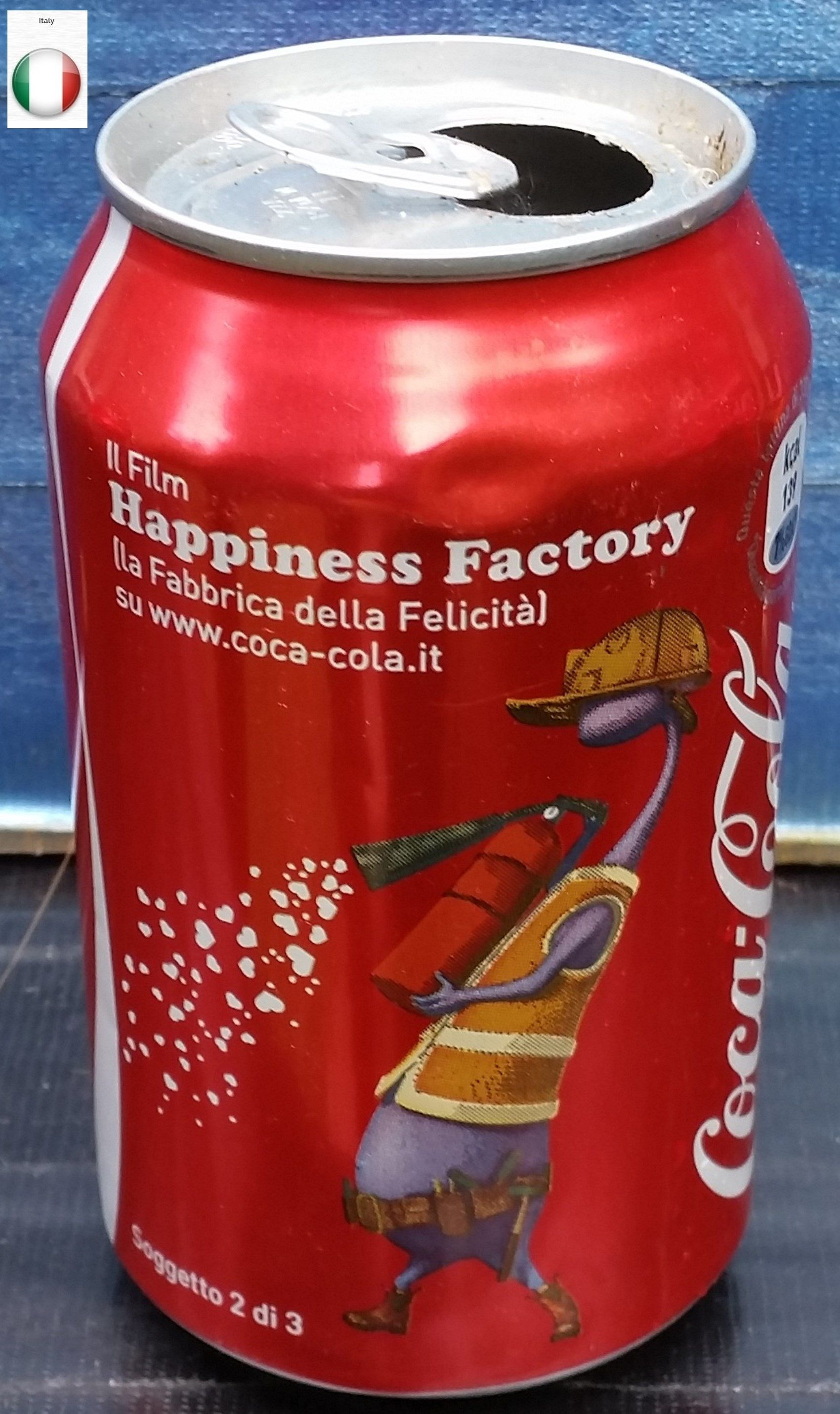 Coca Cola 上的釘圖