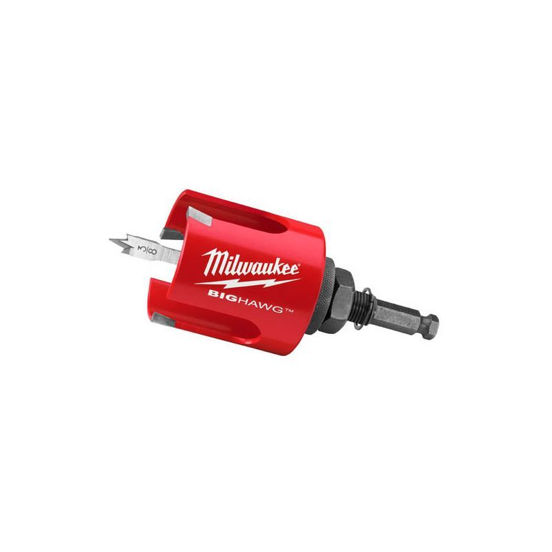 Milwaukee 49 56 9130 2 9 16 Big Hawg Hole Cutter With Pilot Bit Drilling Accessories Wood Drilling Big Hawg Bits Wood Cutter Milwaukee Drill