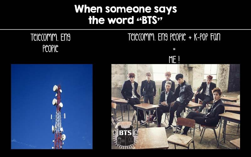 Normal people vs K-Pop Fan, and this is happen to me ! so i made it by myself XD