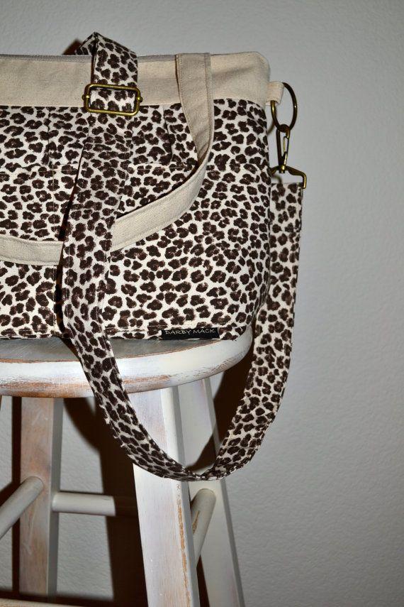 Camera Bag slr, Camera Bag Purse Photographers Tote, Padded, Animal Cheeetah Print On canvas - Camera Gear Bag DSLR by Darby Mack