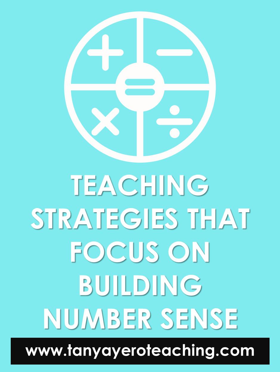 Week 1 Teaching Strategies That Focus On Number Sense Teaching Strategies Number Sense Upper Elementary Math [ 1248 x 939 Pixel ]