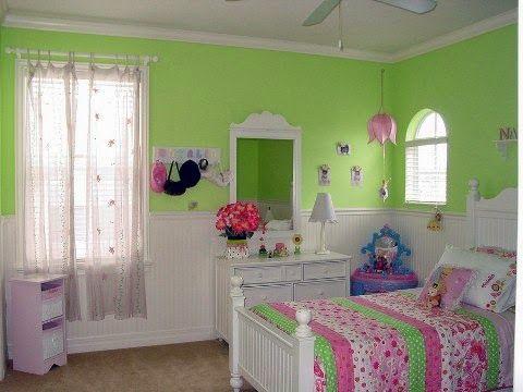 Cuartos Para Ninas En Verde Y Rosa Dormitorios Colores Y Estilos Dormitorios Decoracion De Alcoba Cuarto Nina