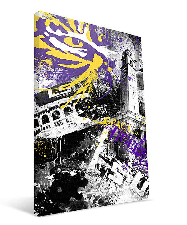 Take A Look At This Lsu Spirit Wall Art On Zulily Today Art Canvas Prints Stretched Canvas Wall Art