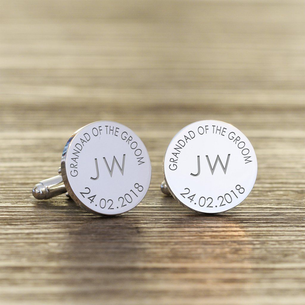 Personalised Groom Silver Plated Mr /& Mrs Infinity  Wedding Date Cufflink
