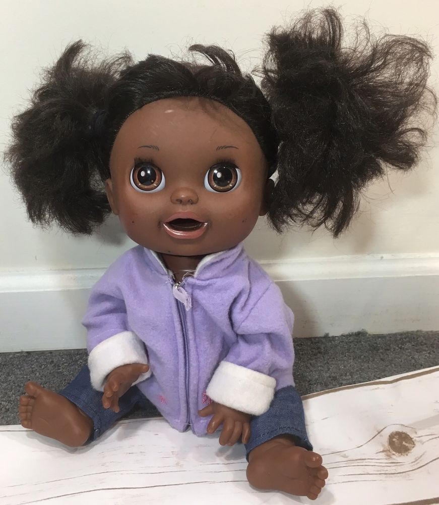 Baby Alive 2012 Real Surprises Black Doll Eats Drinks Talks English Spanish Baby Alive Black Doll Cute Dolls