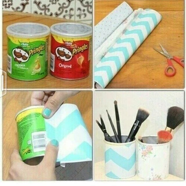 DIY boxes out of pringles boxes #diy