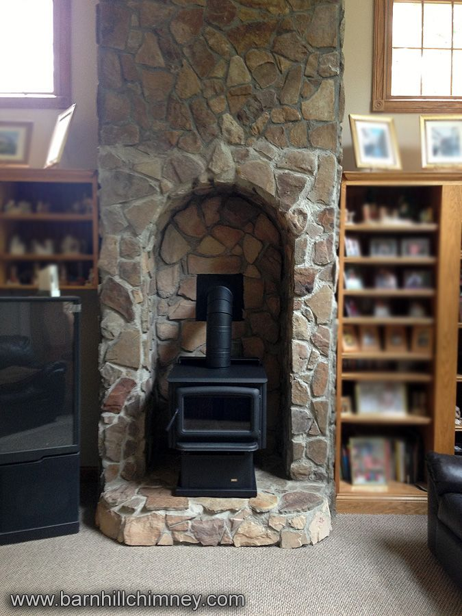 Completed A Pacific Energy Quot Summit Quot Wood Stove In A Stone