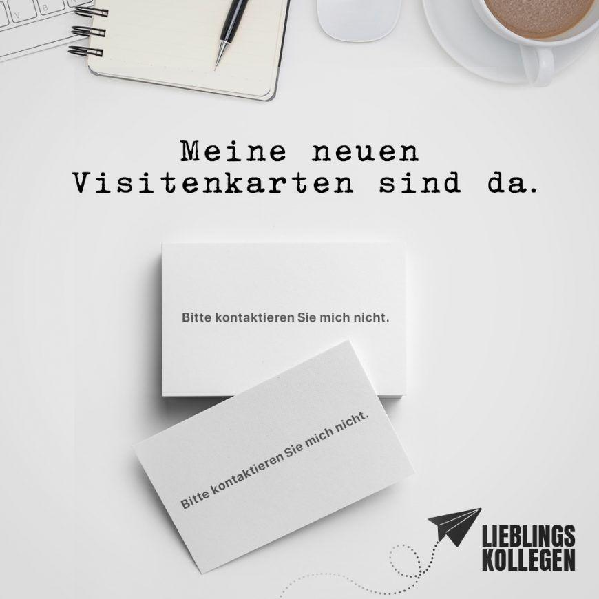 Visual Statements Meine Neuen Visitenkarten Sind Da Bitte