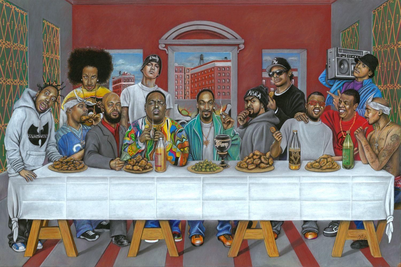 Rap S Last Supper 24x36 Print Etsy Hip Hop Artwork Hip Hop Art Rapper Art