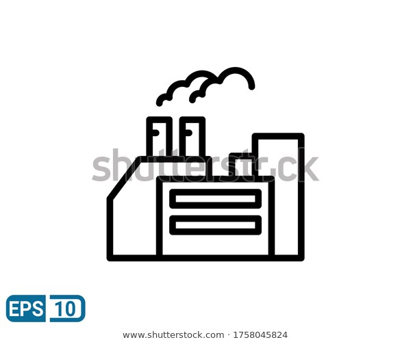 Factory Icon Isolated On White Background Stock Vector Royalty Free 1758045824 Factory Icon White Background Icon