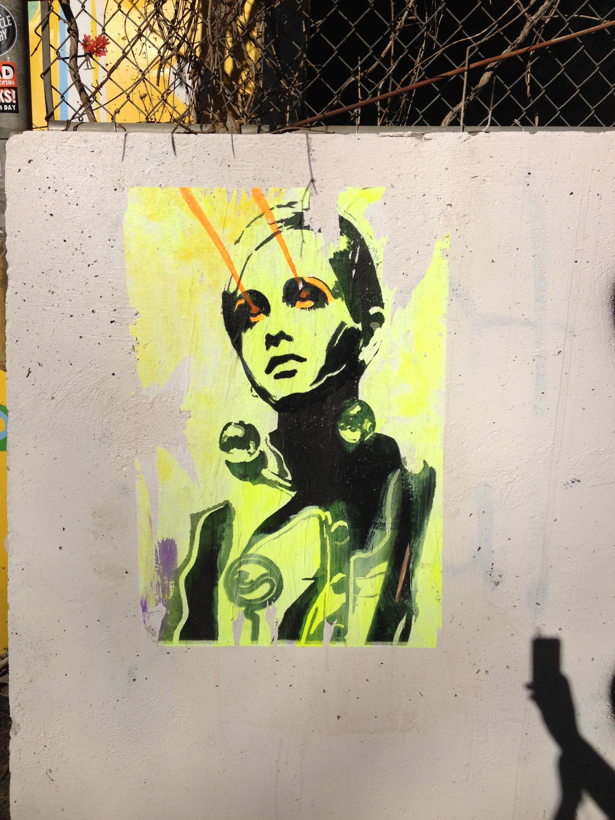 Twiggy\'s Laser Beam Eyes - Beltline, Atlanta.   Atlanta Street Art ...