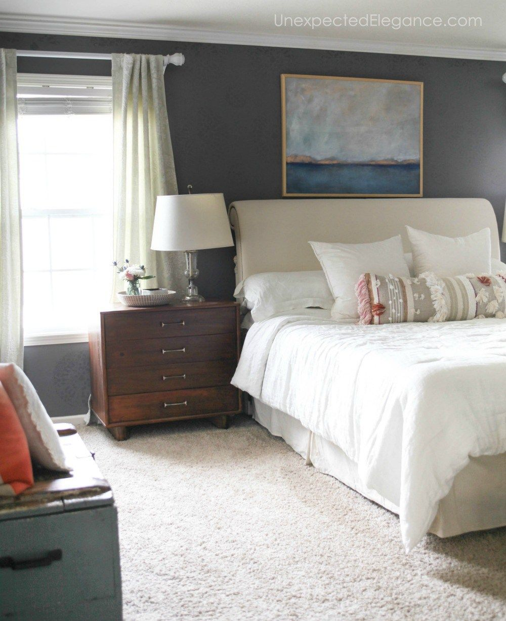 Tips for Hanging Crown Molding Like a Pro Master bedroom
