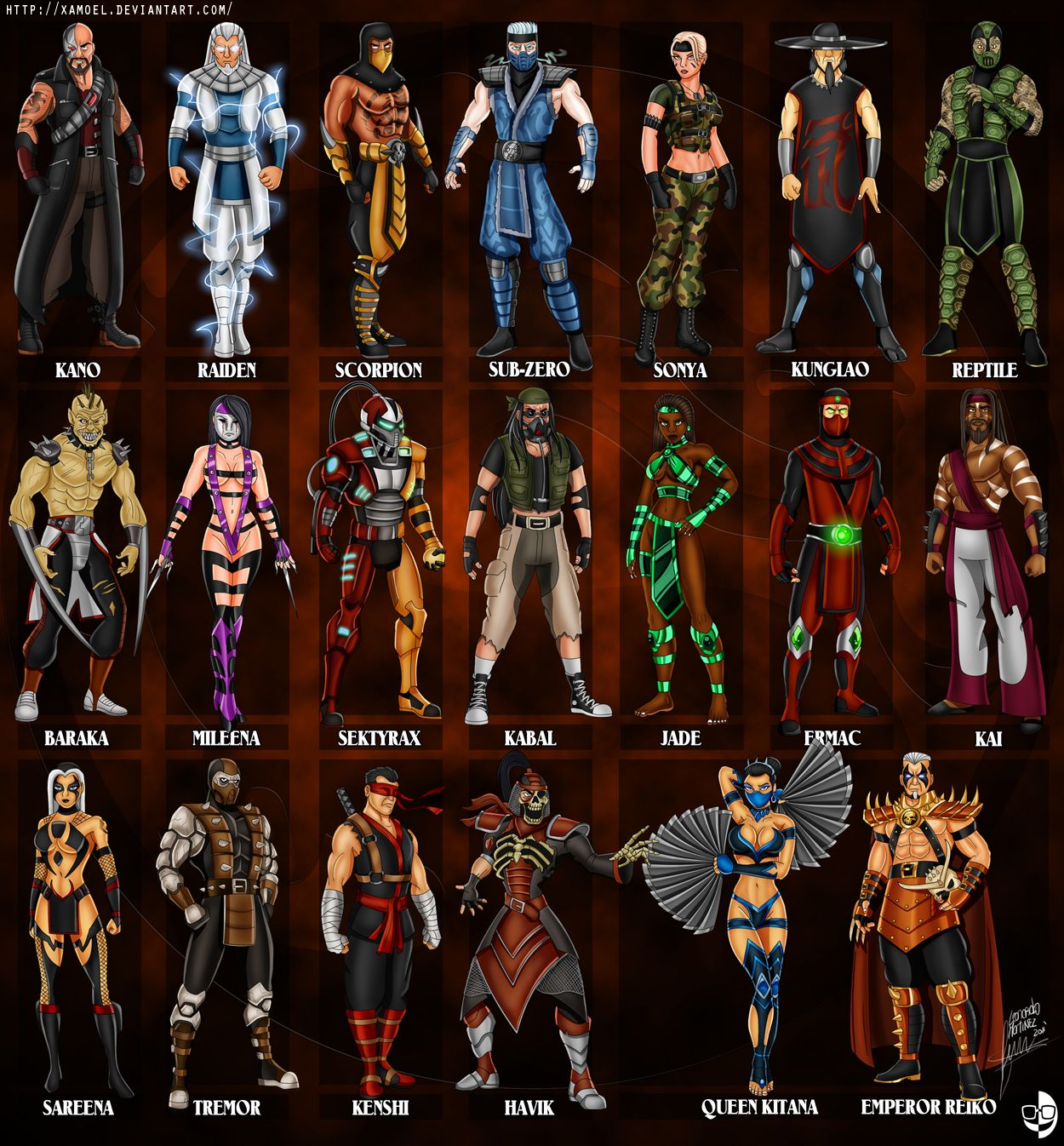 Characters kombat mortal pictures names and