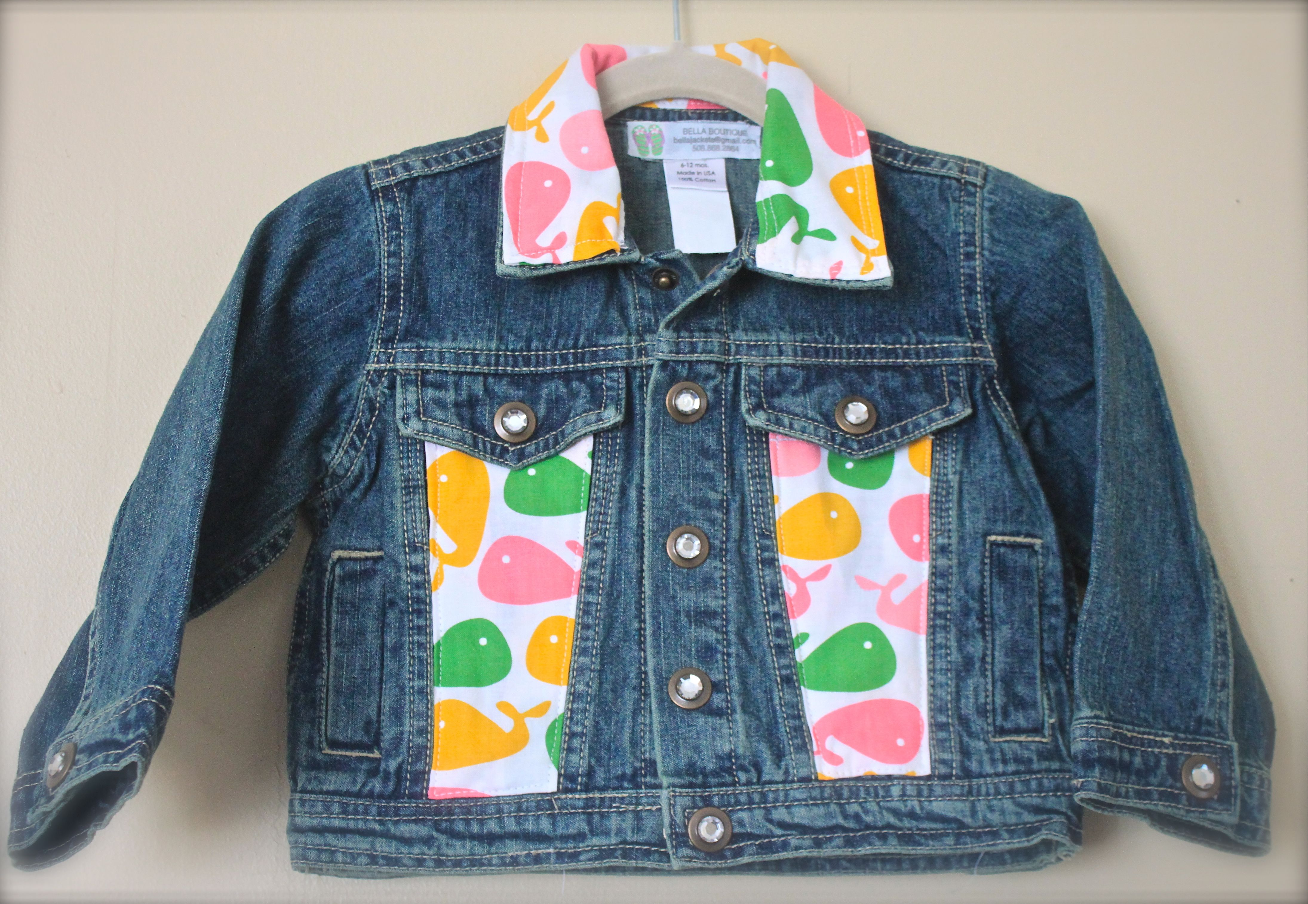 3c6d24cf2820 Infant Baby Jean Jacket decorated in fabric. Email to check sizes ...