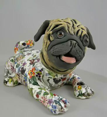 Fabulous'Famous-Pugs'-sculpture-ceramic.jpg , Carol ...