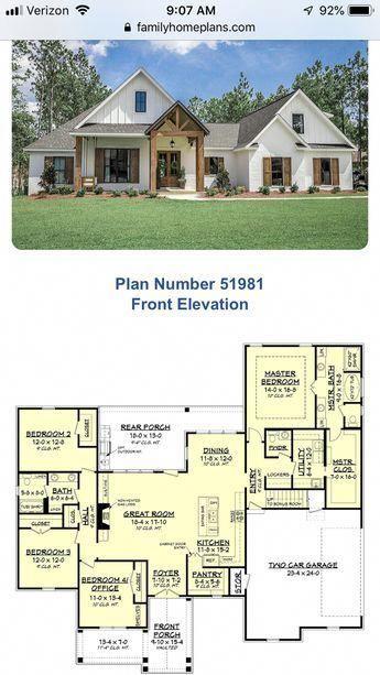 22+ Farmhouse style house plan 51981 best