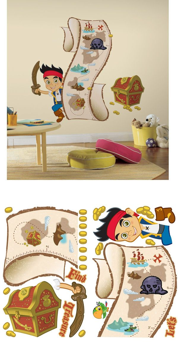 Jake And The Never Land Pirates Growth Chart Wall Sticker Outlet