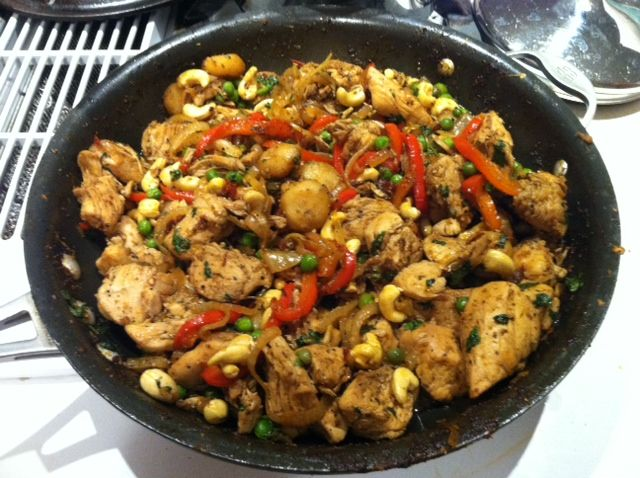 Delicious sweet/spicy chipotle cashew chicken!