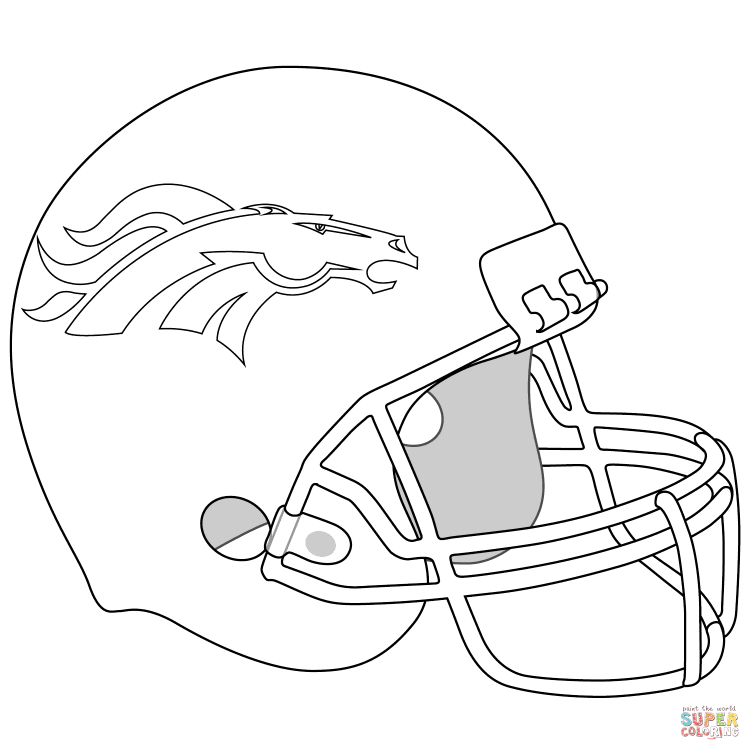 Denver Broncos Helmet | Super Coloring | Anythng | Pinterest