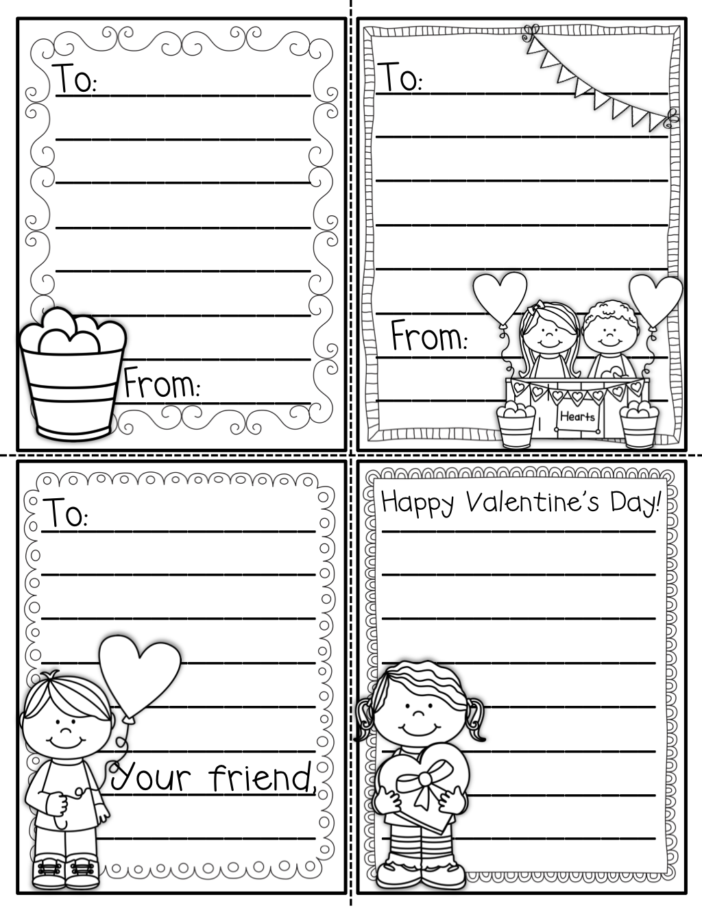 February No Prep Packet Kindergarten