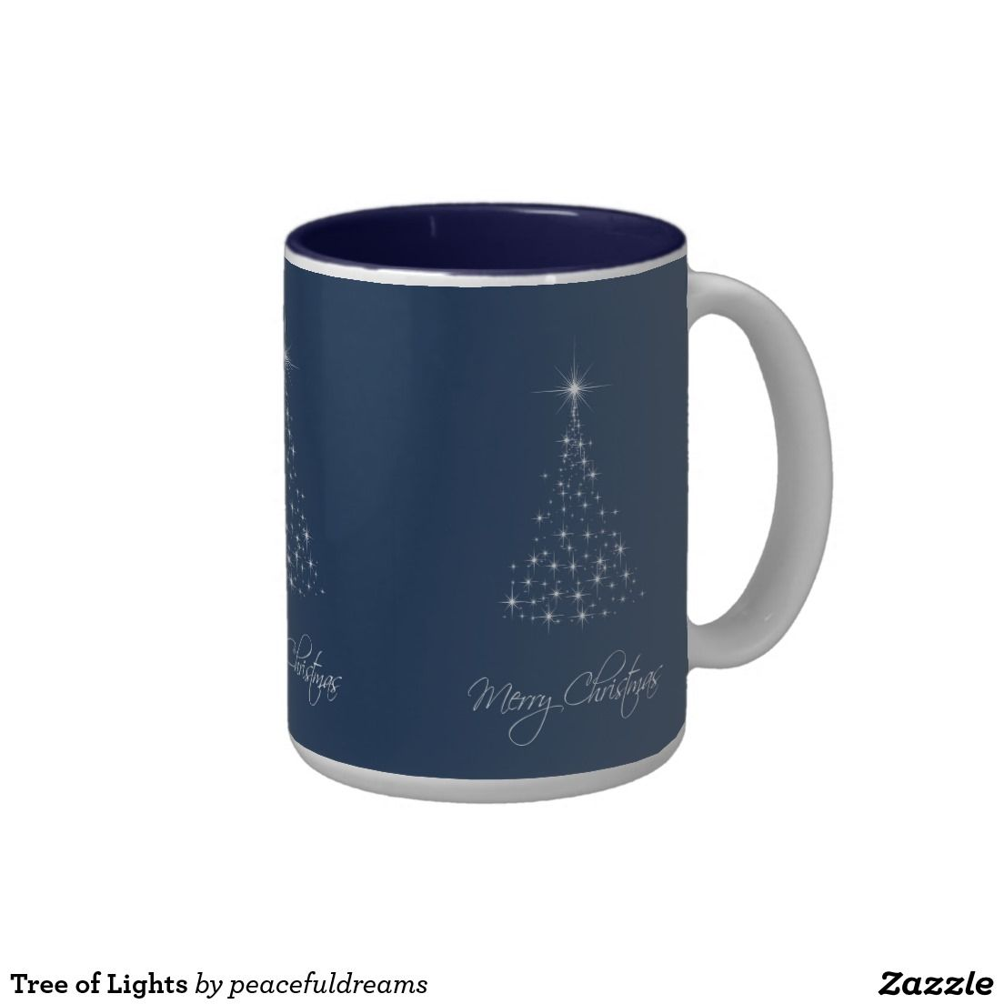 Tree of Lights Two-Tone Coffee Mug