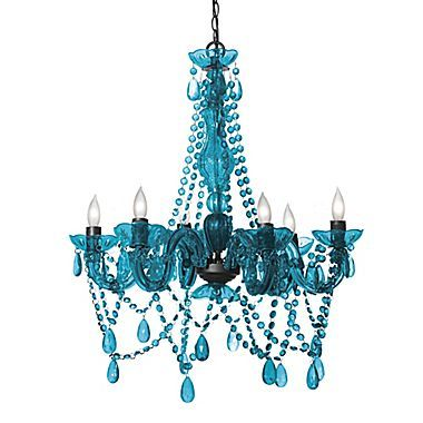 Chandelier with Turquoise  and Black  Bing images