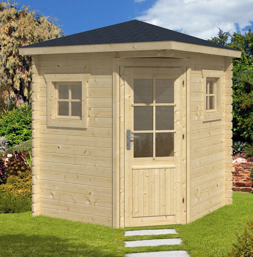 petit corner log cabin 2x2m garden sheds summer houses. Black Bedroom Furniture Sets. Home Design Ideas