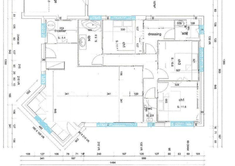 Plan Maison Plain Pied 110m2 Plan Maison Plain Pied Maison