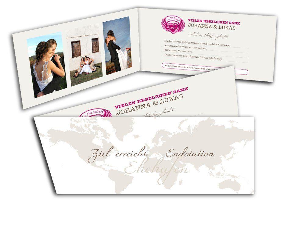 danksagungskarten mit bildern zu den hochzeitseinladungen, Einladung