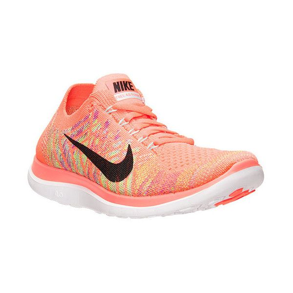 best website ce683 f71cd ... promo code nike womens free 4.0 flyknit running shoes orange 80 liked  on polyvore 8175a 20792