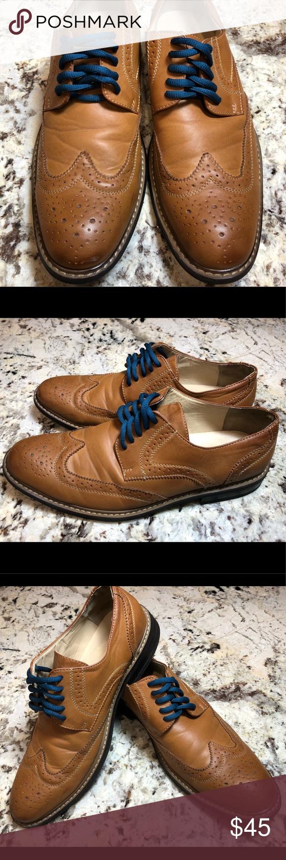Perry Ellis wingtip dress shoe **very