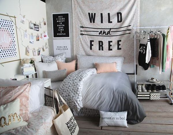 Teenage Girl Bedroom Ideas Black And White Decorating Room ...