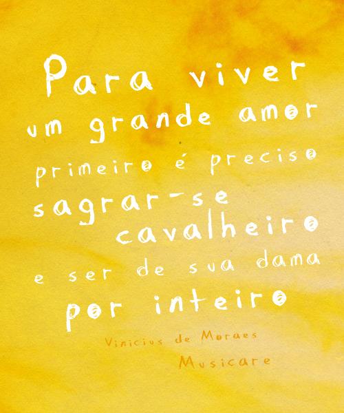 Para Viver Um Grande Amor Vinicius De Moraes Parafraseando