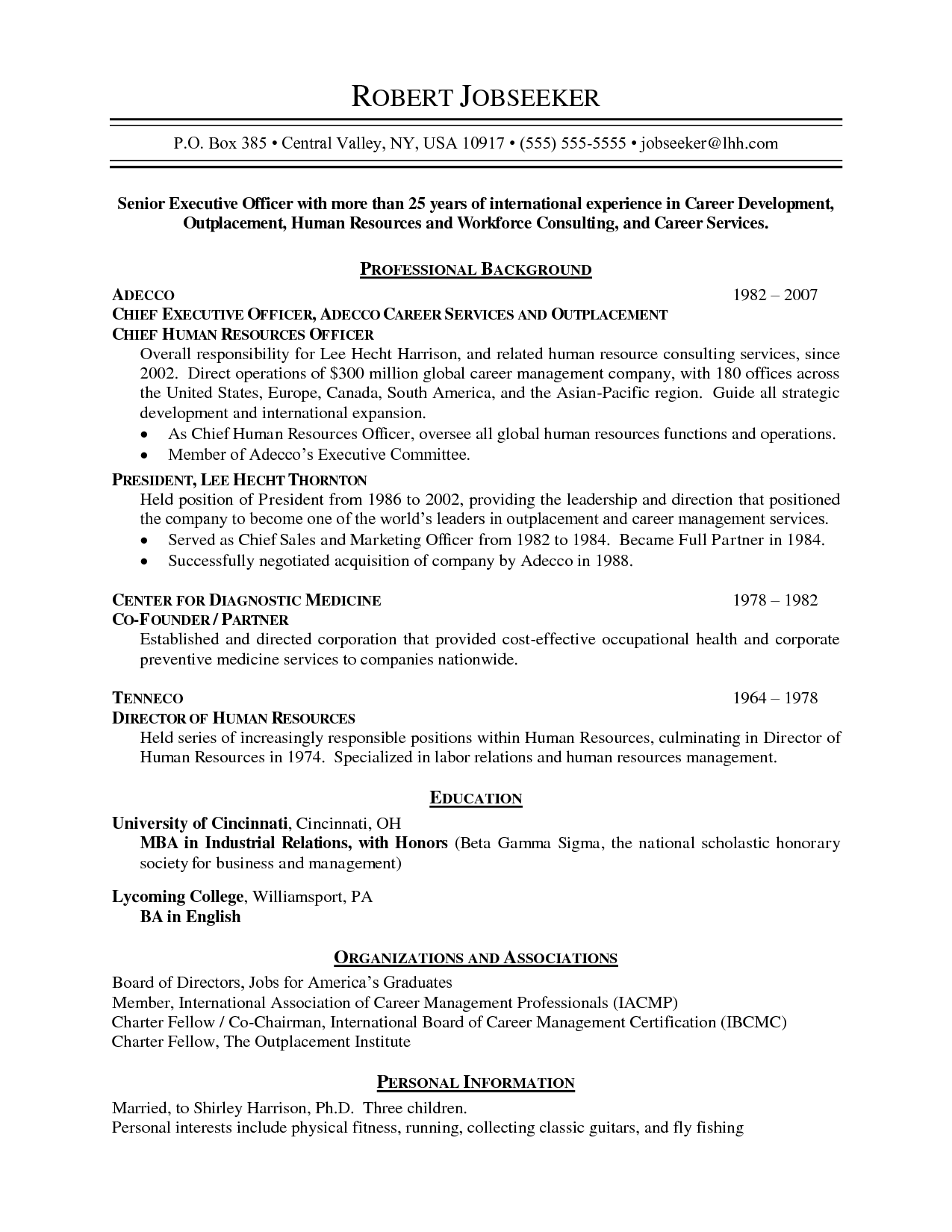 Not Chronological Chronological resume, Chronological
