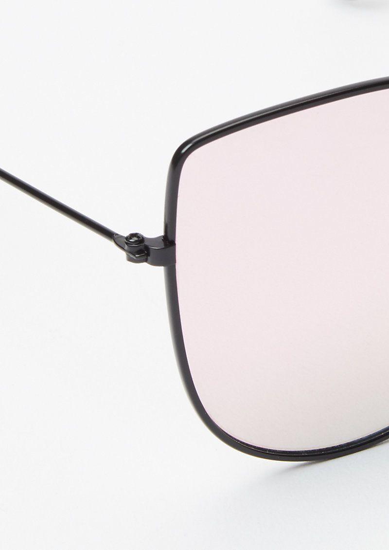 Photo of Rose Gold Mirrored Cat Eye Sunglasses