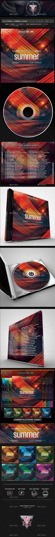electronic summer sunset photoshop cd dvd template psd cd dvd
