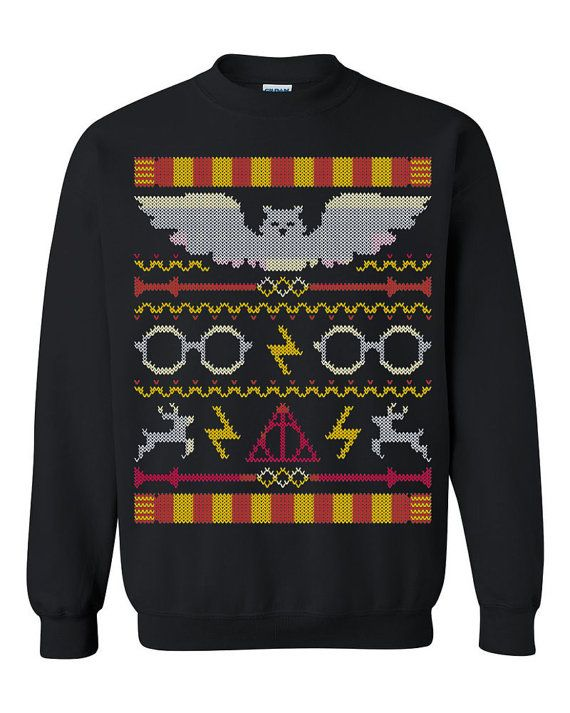 Harry Potter Ugly Christmas Sweater sweatshirt Unisex by FannyBees