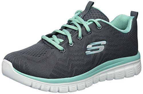 9899c919b8b9 Skechers Sport Womens GracefulGet Connected SneakerCharcoal Green Trim75 W  US     Find out more about the great product at the image link.