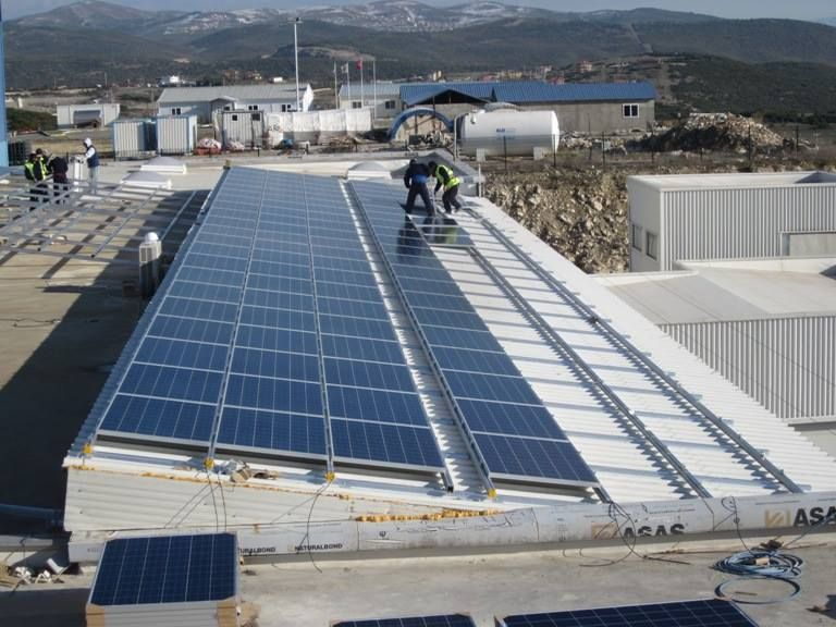 Yingli Solar Panels Will Power This 110 Kw Rooftop Installation In Istanbul Turkey Thanks To Our Partner Tegnatia Solar Roof Solar Panel Solar Power System