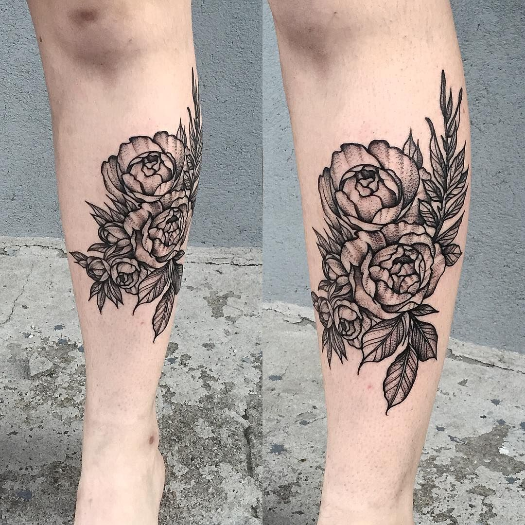 20 Botanical Tattoo Artists You Need To Follow For Your: Botanical Piece For Kelly #tattoo #black #blackwork