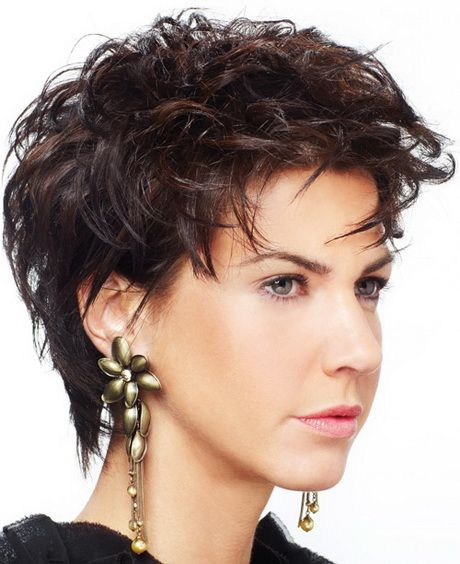 Short Hairstyles For Curly Hair Round Face Hair Styles Short