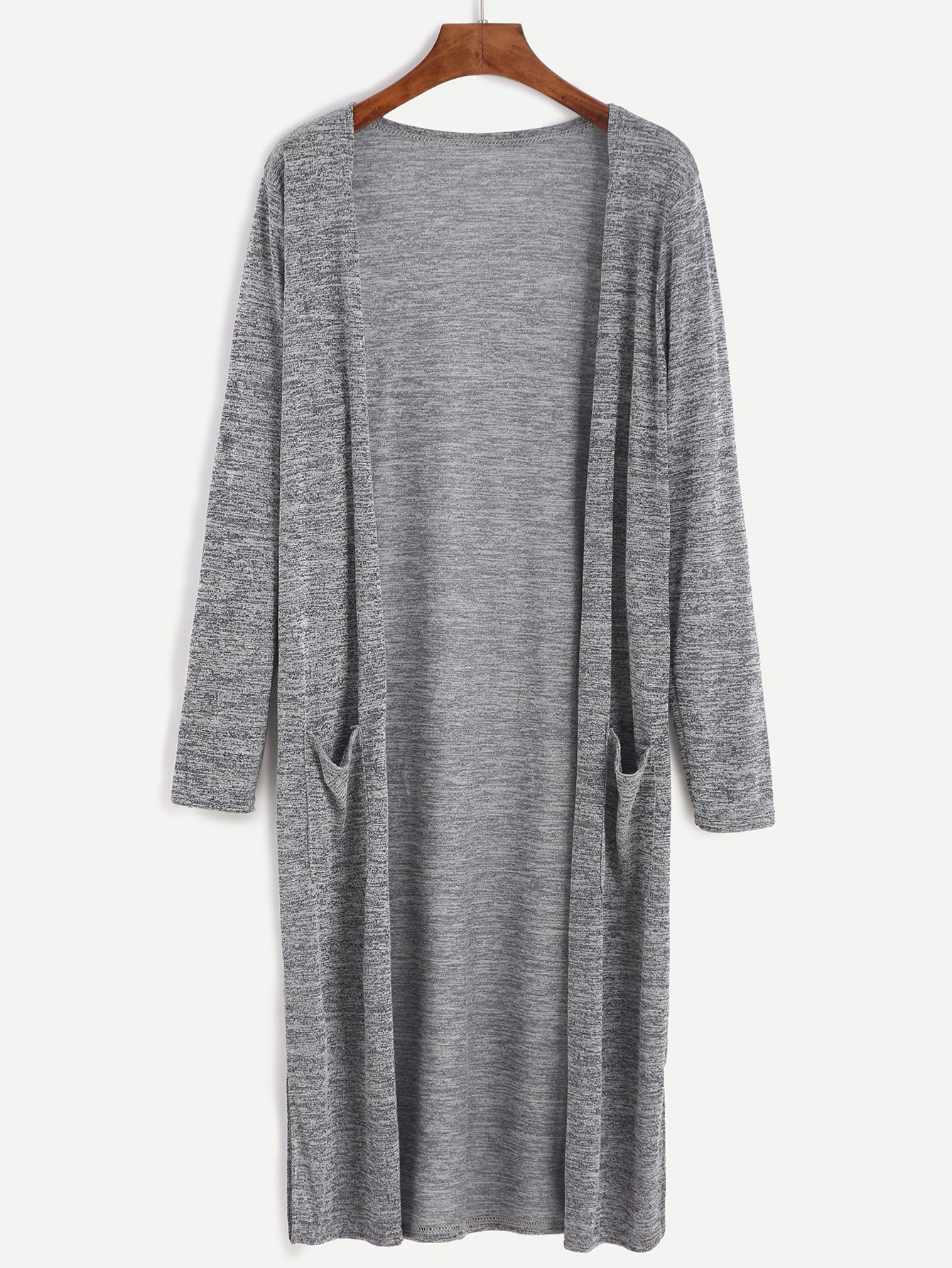 Shop Grey Marled Knit Long Cardigan With Pocket online. SheIn offers Grey Marled Knit Long Cardigan With Pocket & more to fit your fashionable needs.